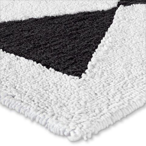 Nate Berkus Graphic Bath Rug Black And White