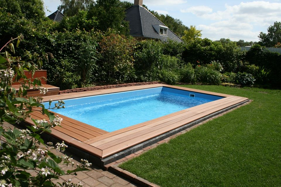 Zwembad swimming pool zwemmen tuin klein small backyard garden - Kleine swimmingpools ...
