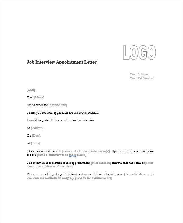 Appointment Letter Government Official Sample Employee Format Word