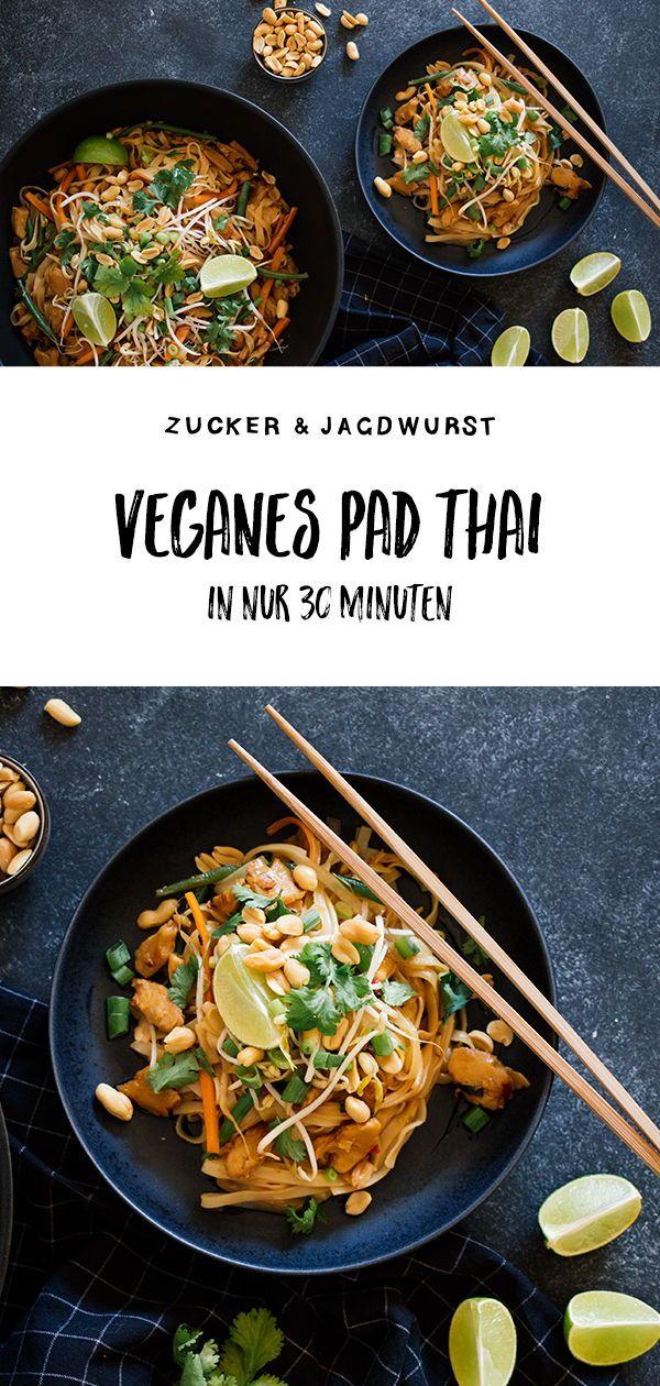 """Veganes Pad Thai mit """"Hühnchen"""" - Zucker&Jagdwurst"""