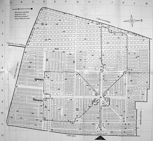 Map of the cemetery