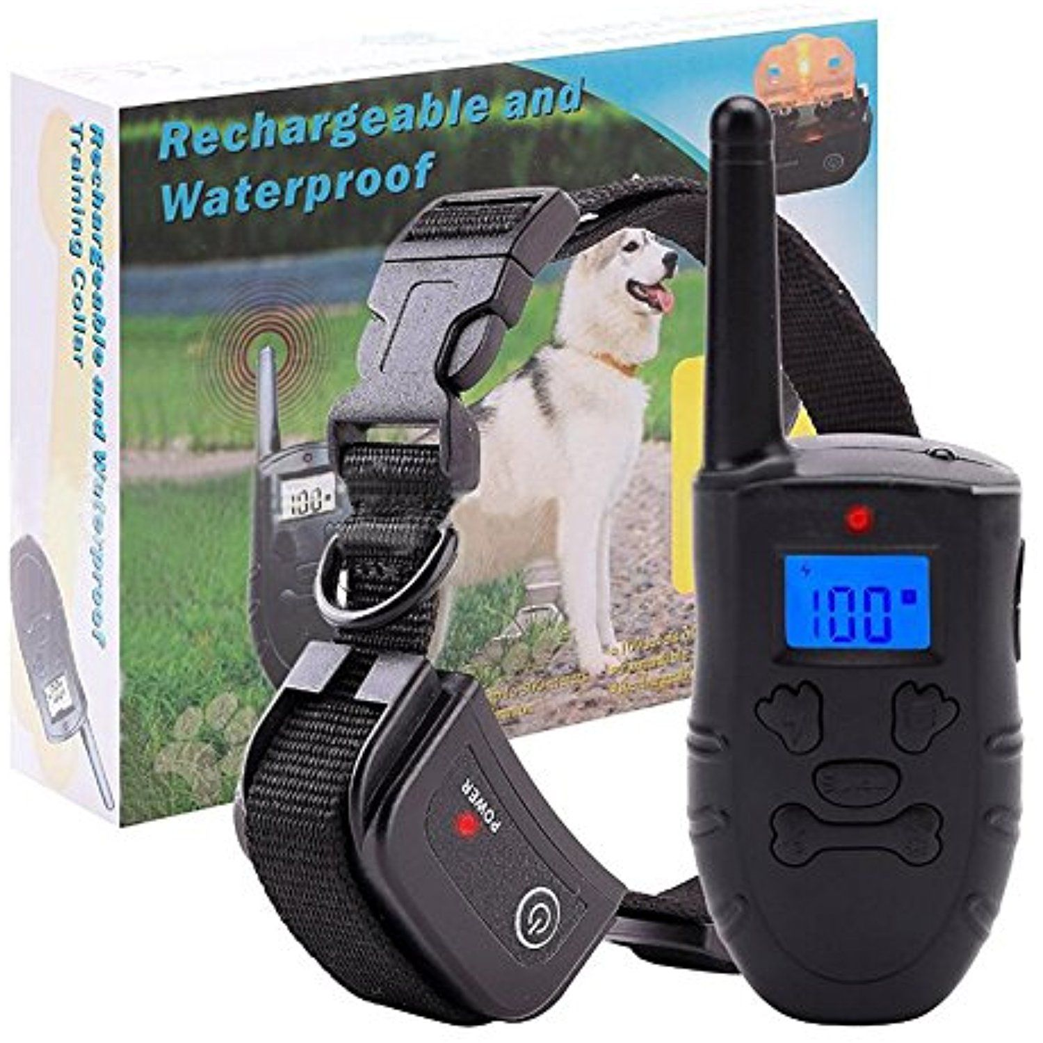 Remote Dog Control Training Collar Rechargeable And Waterproof