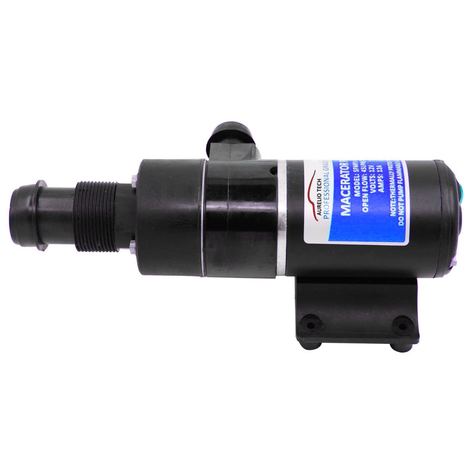 12V Macerator Water Waste Pump 45 LPM 12GPM Toilet RV