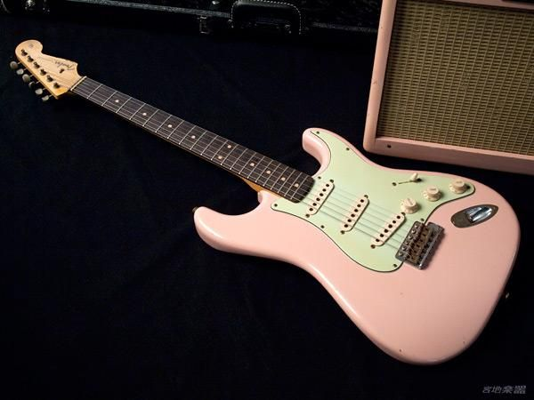 Fender Custom Shop Tbc 59 Stratocaster Ltd Shell Pink Relic With