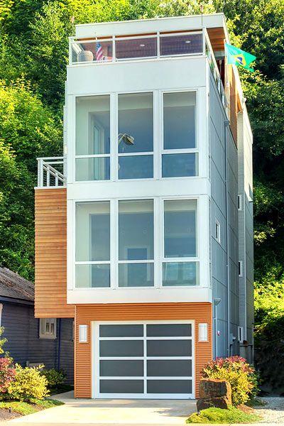 Narrow Escapes | Narrow house designs, Modern tiny house ...