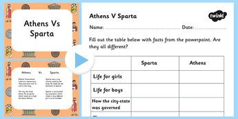 sparta vs athens powerpoint and worksheet athens sparta athens and sparta powerpoint athens. Black Bedroom Furniture Sets. Home Design Ideas