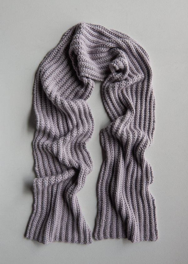 No Purl Ribbed Scarf Now In Lavender Opal Purl Soho Knitting