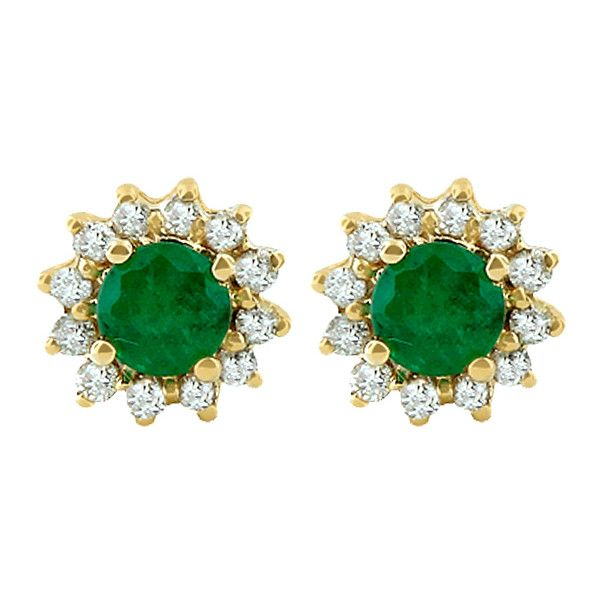 Effy Jewelry Gemma Royalty Emerald And Diamond Earrings 0 72 Tcw 10 790 Zar Liked On Polyvore Featuring