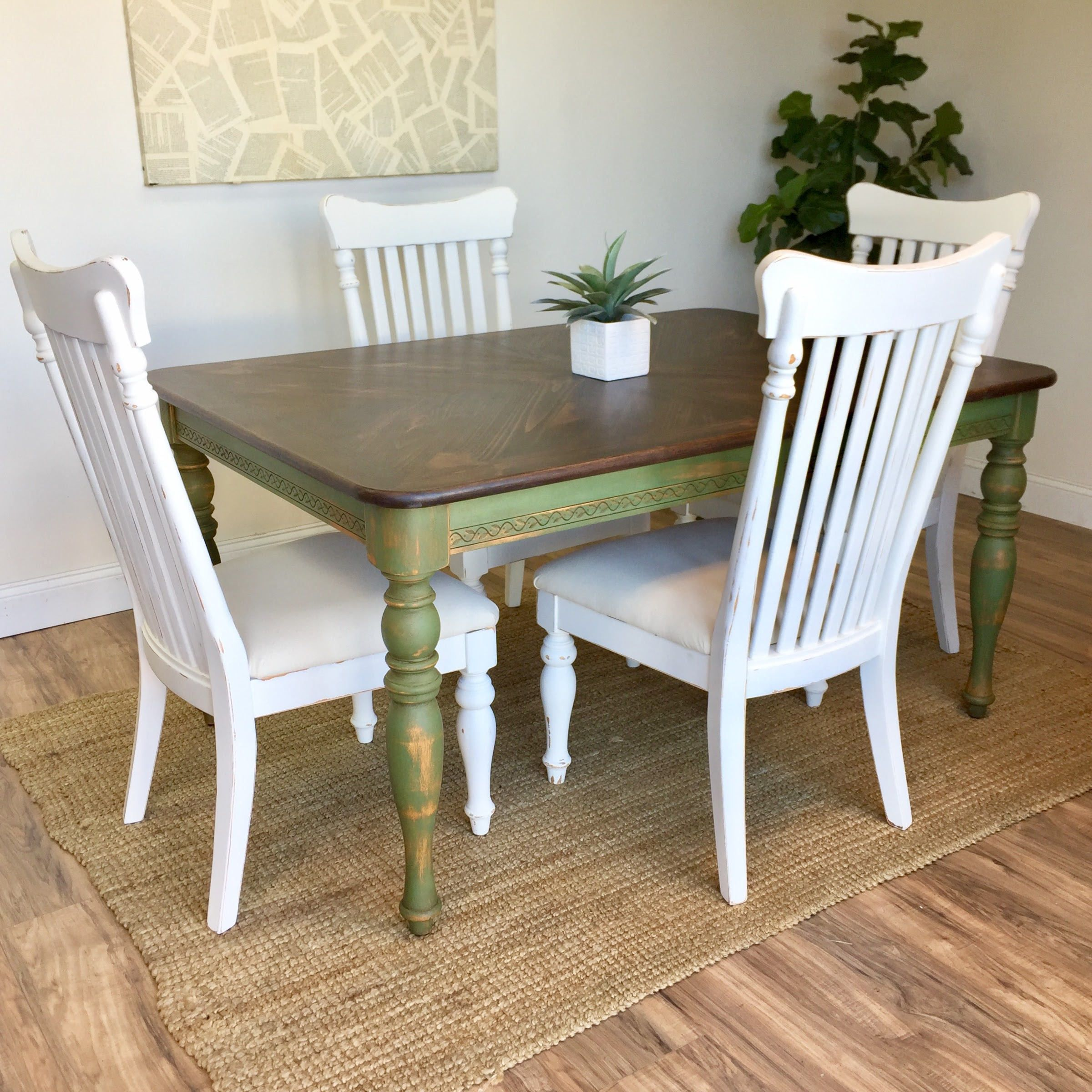 Farmhouse Table Set Country Cottage Furniture Country