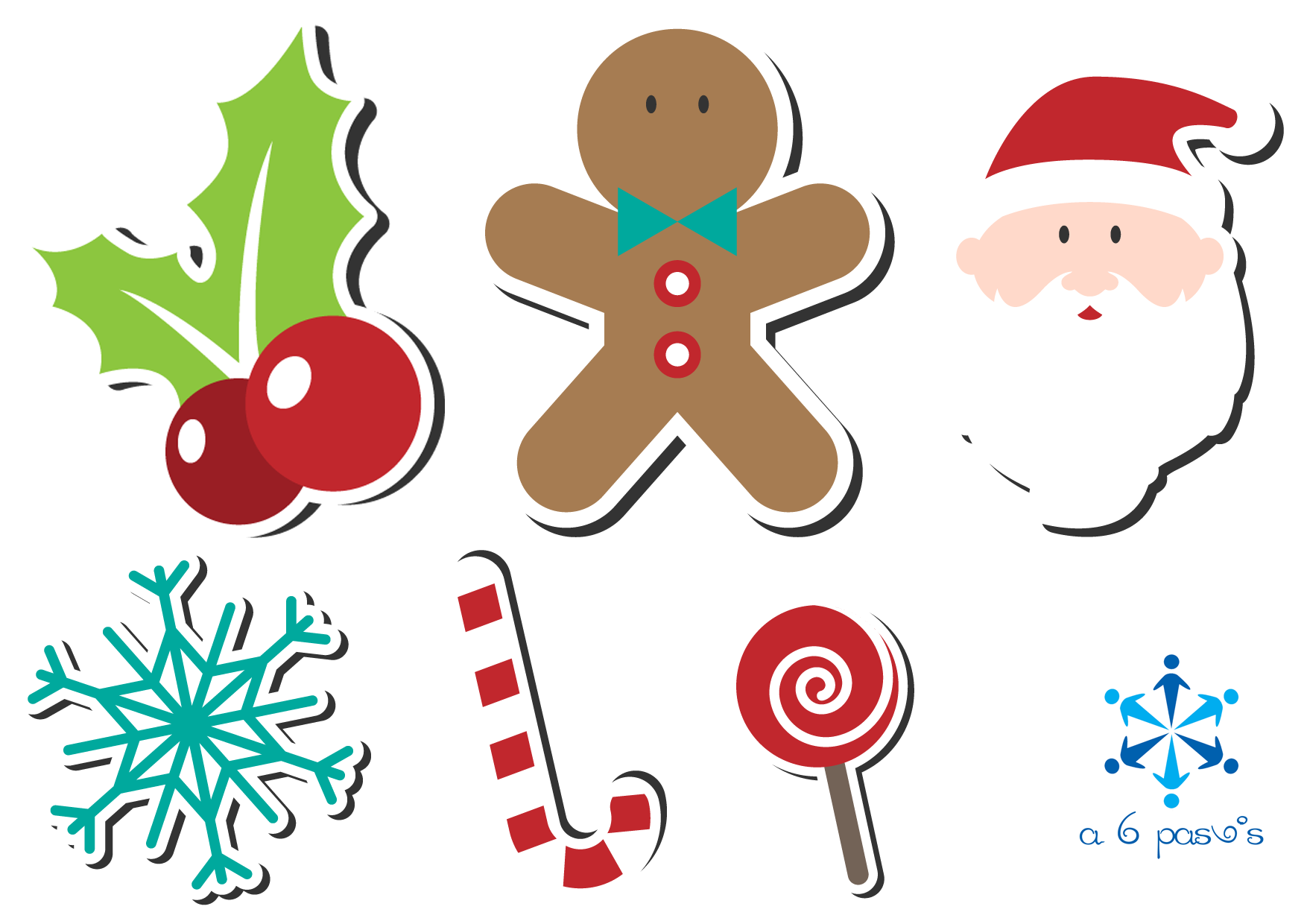 guirnaldas navideas para el rbol de navidad descargables - Guirnaldas Navidad