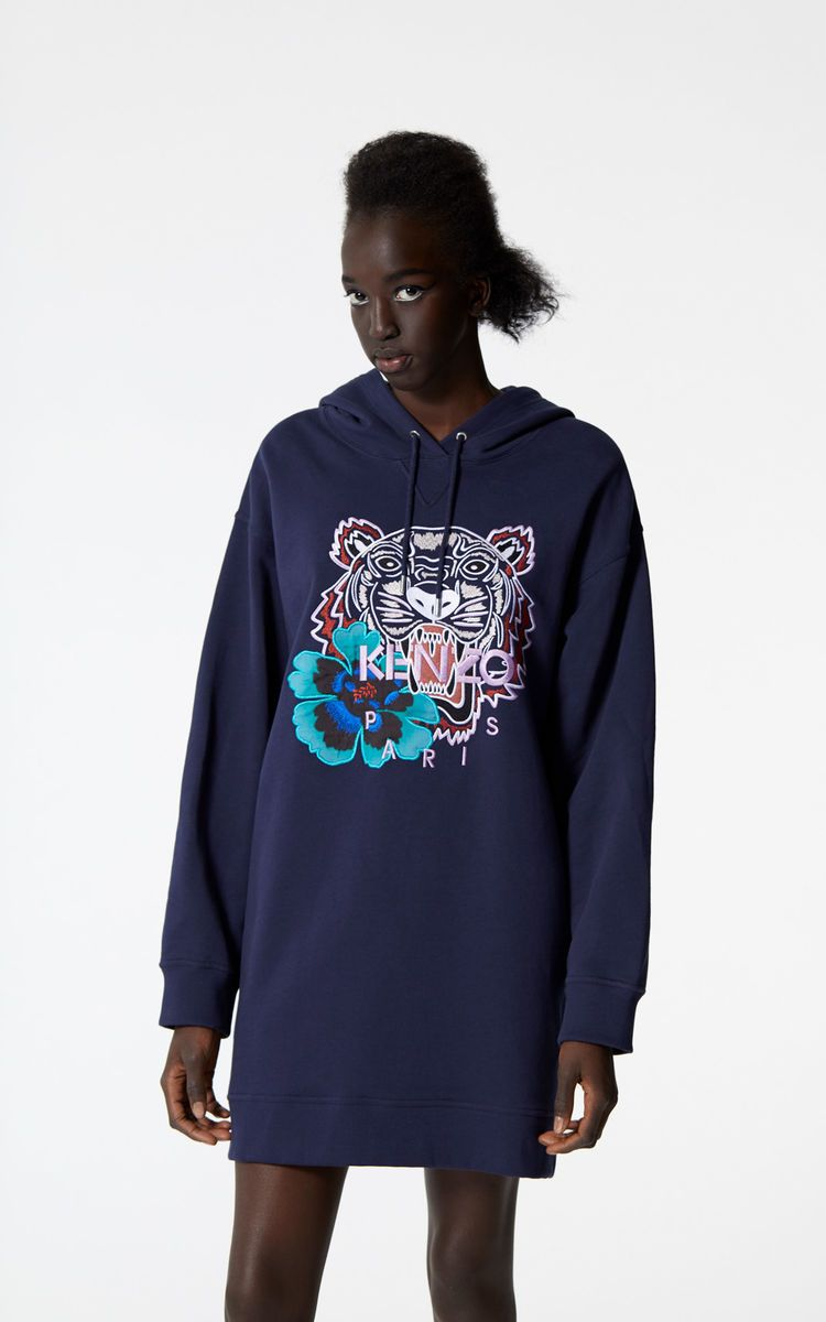 cf3a8178 INK 'Indonesian Flower' Tiger sweatshirt dress for women KENZO ...