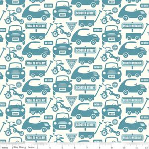 Sheri McCulley Studio - Cruiser Blvd - Cruiser Cars in Blue