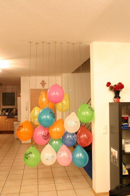 Wall O Balloons Was A Huge Hit For My Two Year Old S Birthday Morning He Was So Excited 2 Year Old Birthday Party Kids Birthday Birthday Morning