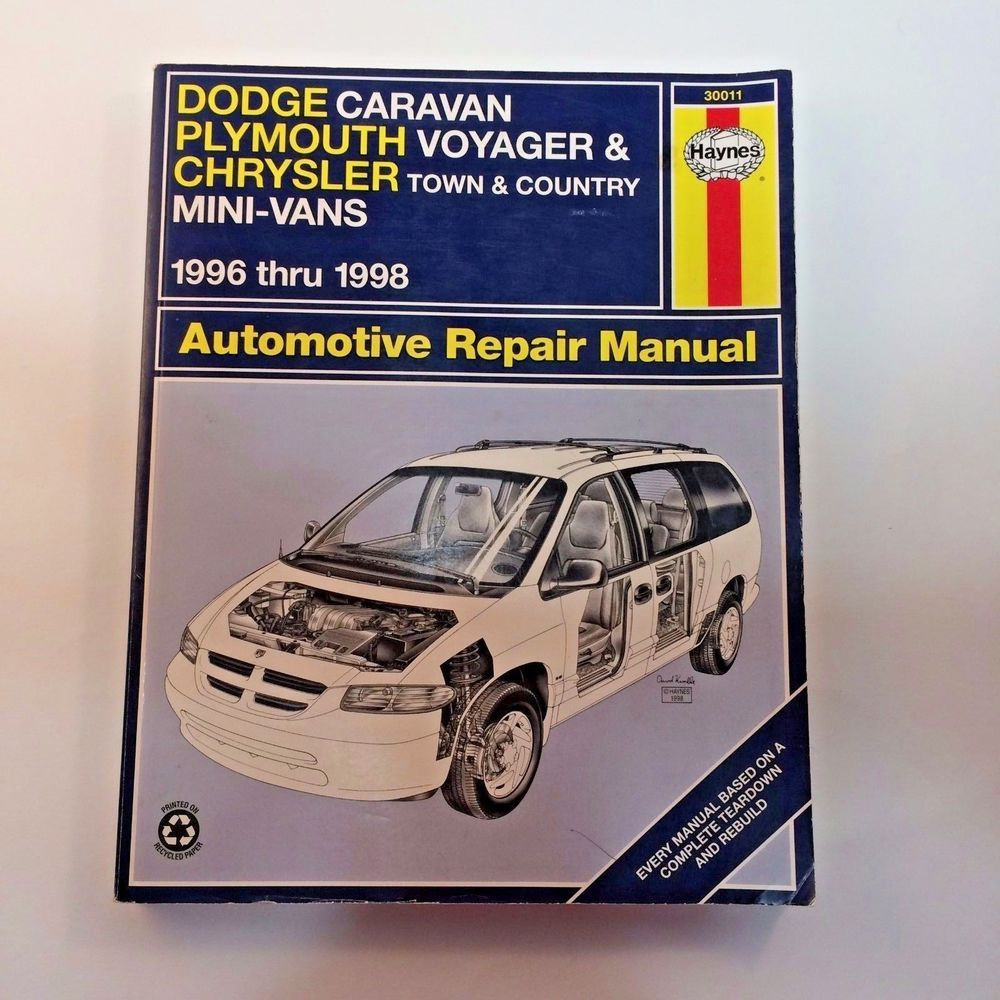 Haynes Dodge Caravan Plymouth Voyager Town & Country Repair Manual 30011  96-98 #Haynes
