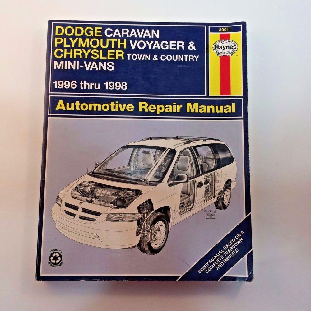Haynes Dodge Caravan Plymouth Voyager Town & Country Repair Manual 30011 96- 98 #Haynes