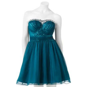 Lily Rose Jeweled Tube Dress - Juniors