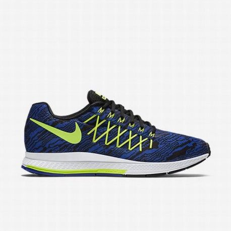 Nike Zoom Hombres Racer Azul  Negro  Volt Air Zoom Nike Pegasus 32 Imprimir Running Zapato 57b923