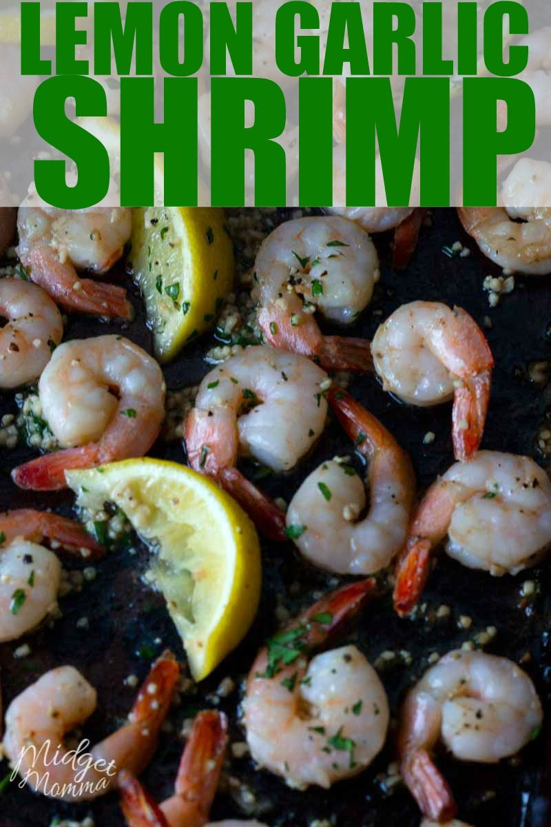 Lemon Garlic Shrimp! #garlicshrimprecipes