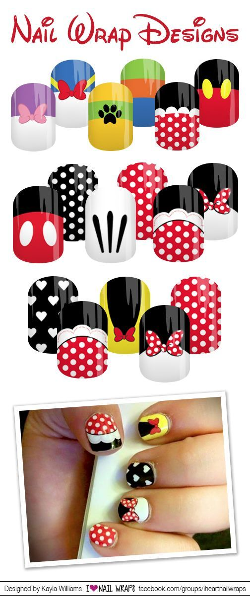 Disney Fab 5 Clubhouse Inspired Jamberry Nas Nail Wrap Designs I