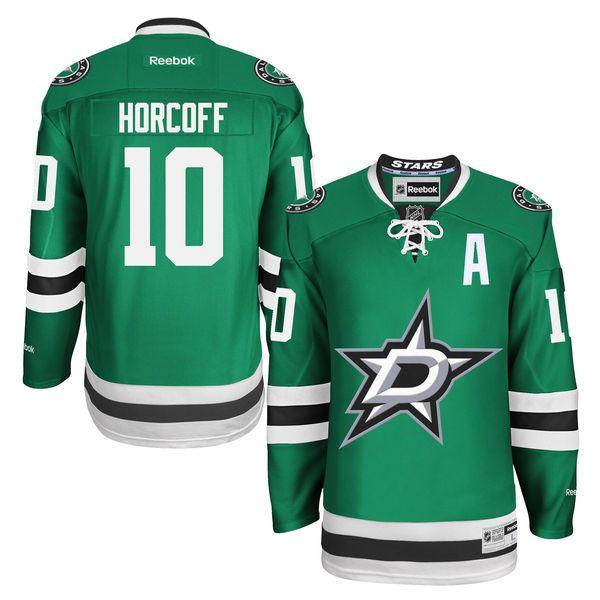 Men's Dallas Stars Shawn Horcoff Reebok Green Premier Player Jersey
