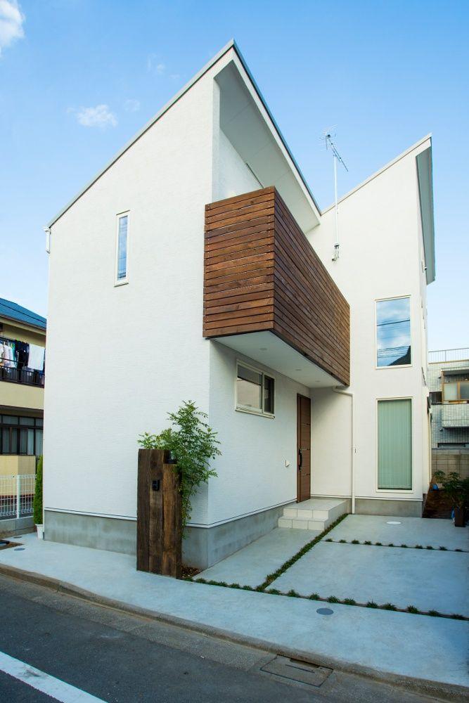 木と左官で仕上げた外観 住宅 外観 住宅のエクステリアデザイン