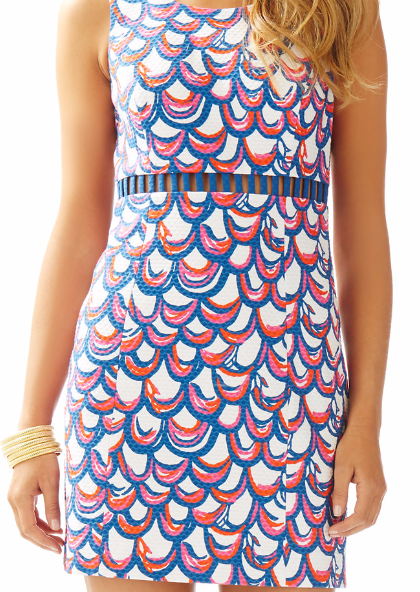 a4b5ab39a2a534 Lilly Pulitzer Iggy Cut-Out Shift Dress in Resort White Gillty- perfect  summer dress, subtle cut-outs