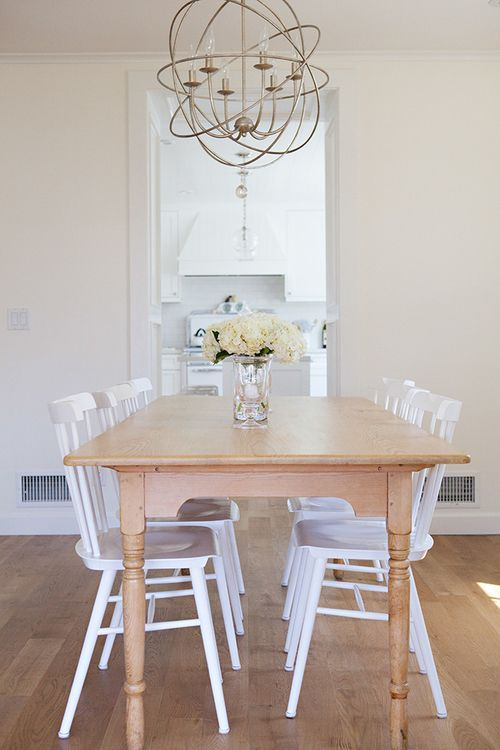 Clean u0026 cozy dining space | Tucker Chairs via Serena u0026 Lily | Image via Anne Collard Design & Clean u0026 cozy dining space | Tucker Chairs via Serena u0026 Lily | Image ...