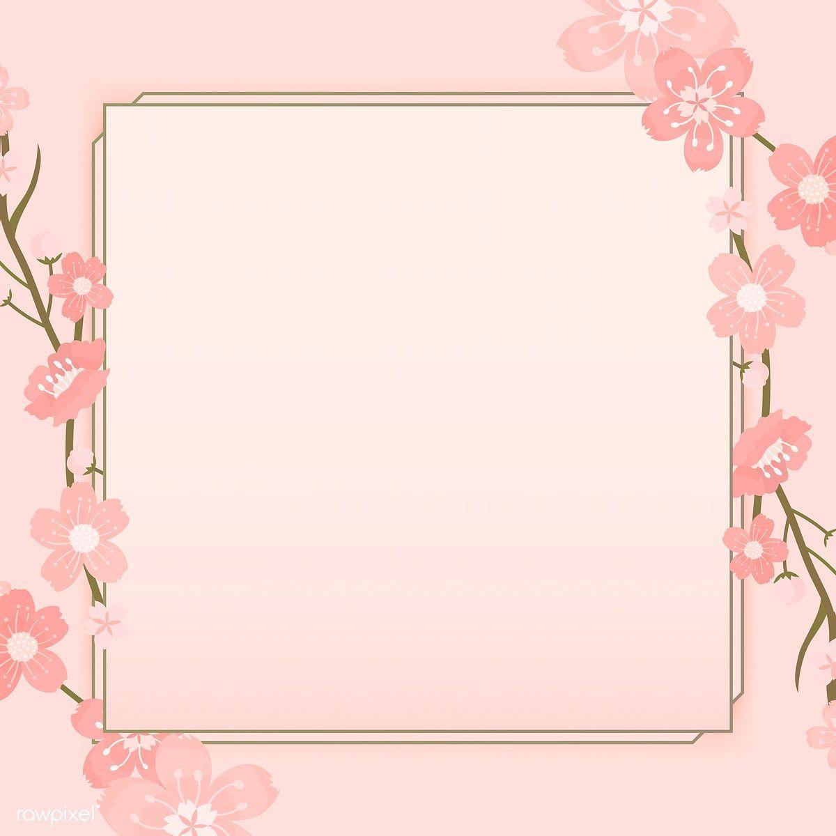Pink Cherry Blossom Framed Vector Free Image By Rawpixel Com Manotang Planos De Fundo Papel De Parede Flores Wallpapers Bonitos