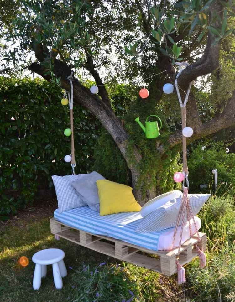 euro paletten schaukel f r entspannende minuten im garten garten ideen pinterest euro. Black Bedroom Furniture Sets. Home Design Ideas