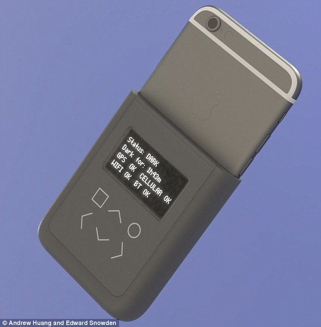 Edward Snowden's new iPhone case combats government