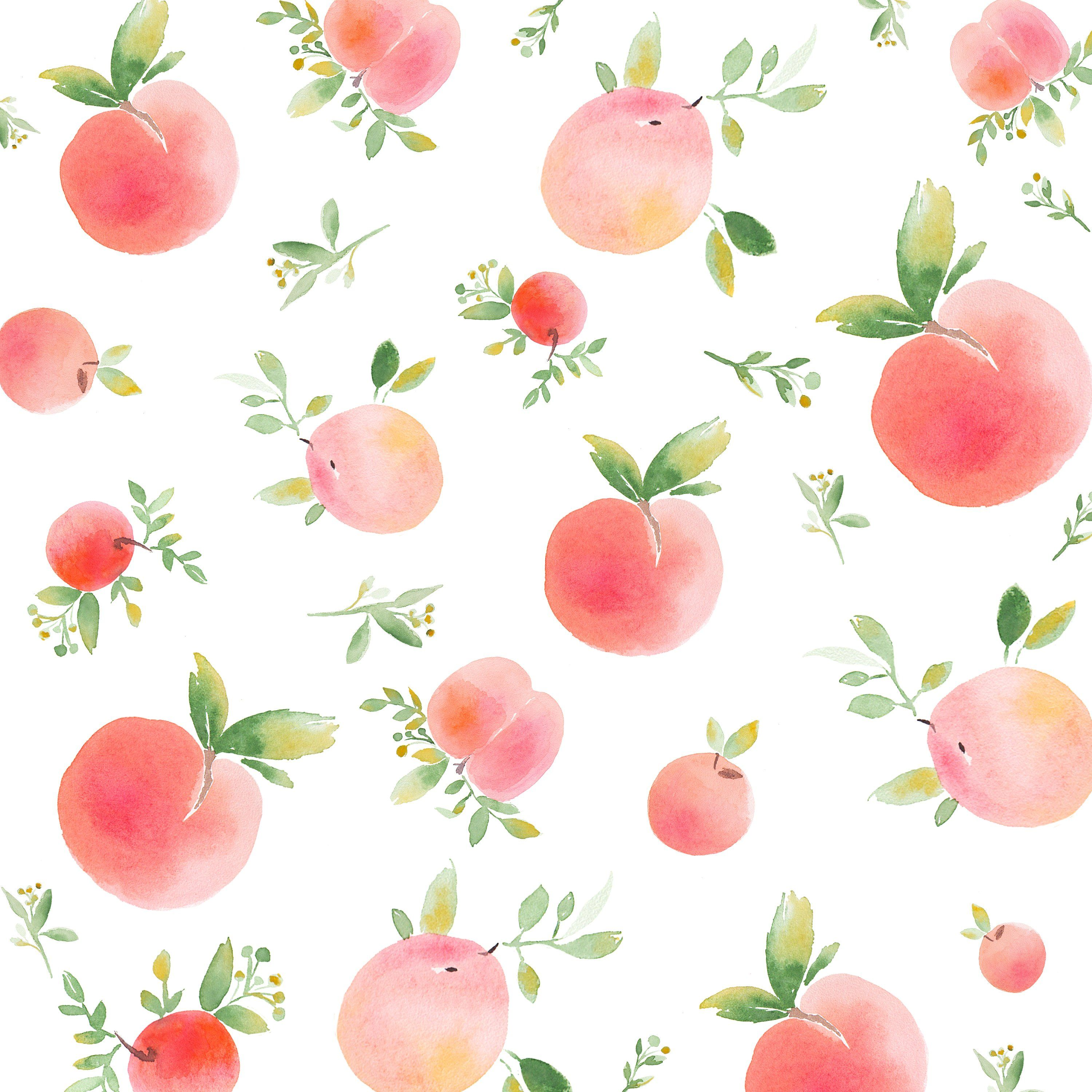watercolor lemon and peach patterns peach paint peach background painting art projects watercolor lemon and peach patterns