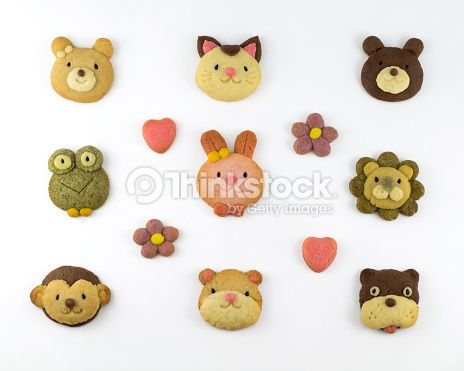 Foto de stock : Cute animal cookies