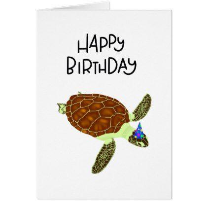 Happy birthday turtle card birthday gifts giftideas present shop happy birthday turtle card created by handwrittenbymeghan bookmarktalkfo Images