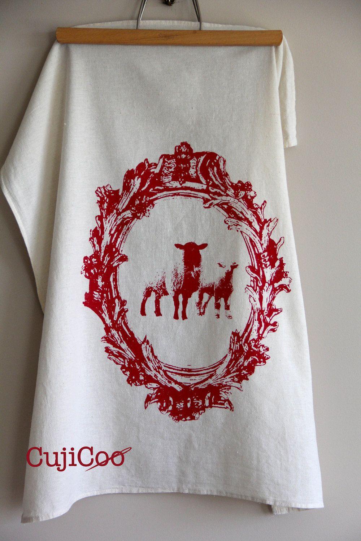Nz fish species tea towel 12 00 the seafood new zealand tea towel - Screen Printed Organic Cotton Vintage Sheep Design Flour Sack Tea Towel Kitchen Towel For Dishes