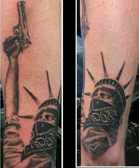 6ba268c5e4fa0 30 Ultimate Statue Of Liberty Tattoos Ideas | Help Stoneman Douglas ...
