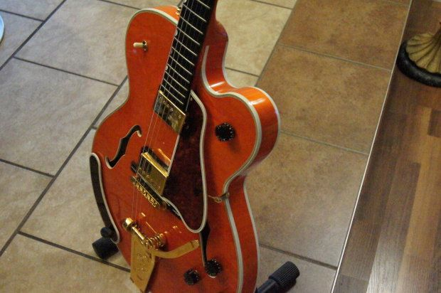 Gibson Chet Atkins Country Gent 1997 Sunrise Orange Reverb With