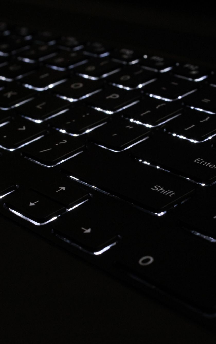 840x1336 Keyboard Black Backlight Wallpaper In 2020 Background Pictures Keyboard Background