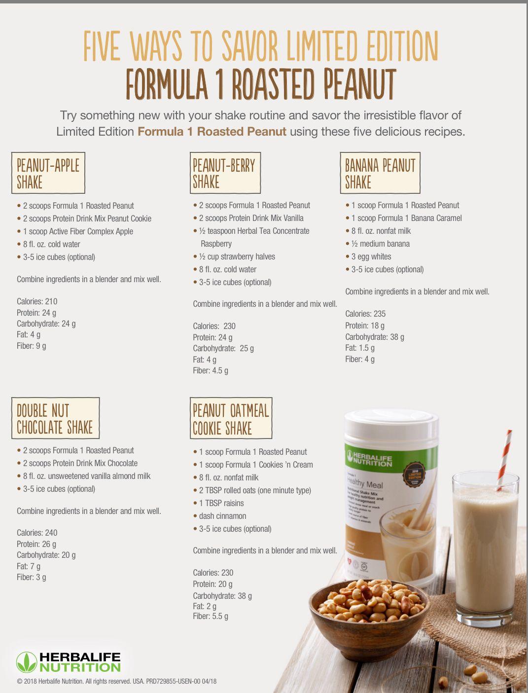 Roasted Peanut Herbalife Shake Recipes Herbalife Recipes Herbal Life Shakes