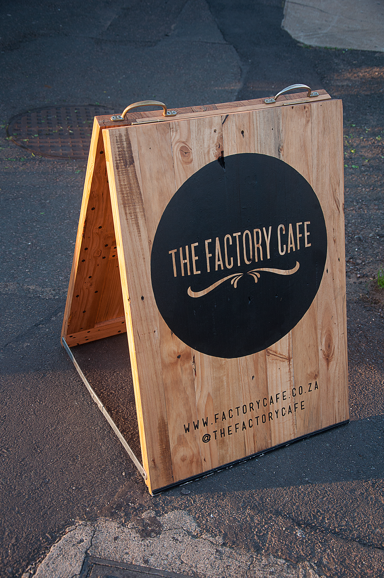Street signage branding for a local coffee shop where i live durban south africa