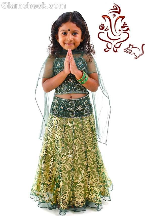 Traditional fashion for kids-indian festival ganesh ...