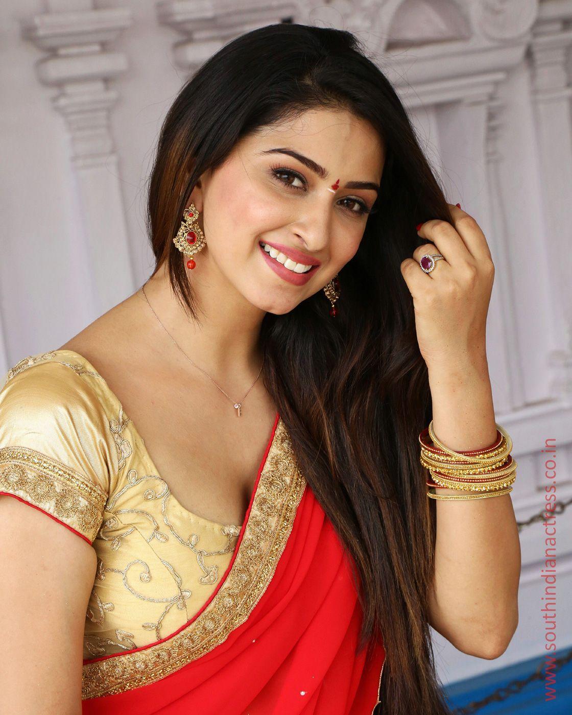 Teja Reddy Indian Girls Custom Wear T Navel Saree And