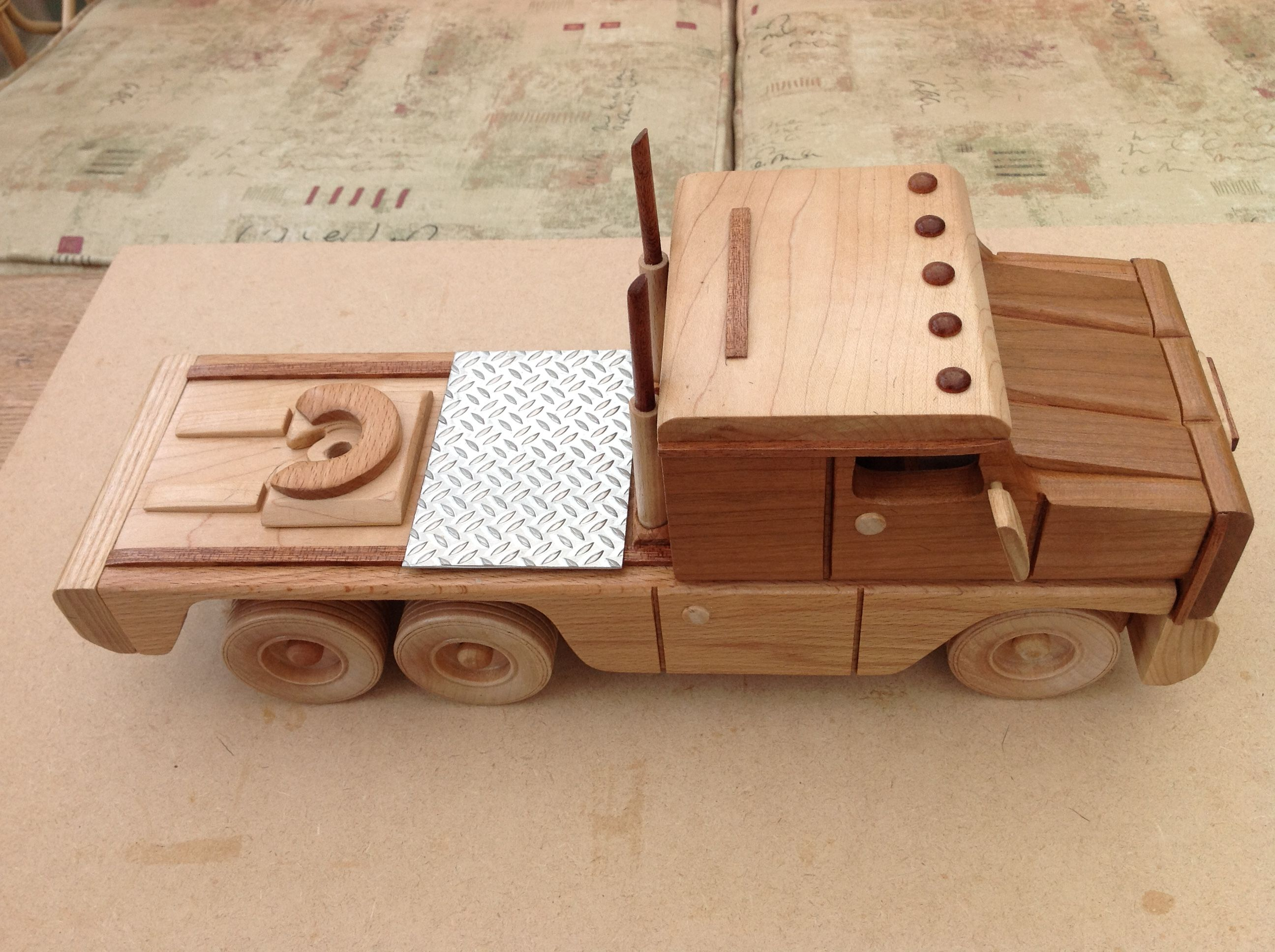 handmade wooden truck maded french, swindon england