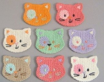 Crochet applique pattern crochet cat applique pattern no 62 crochet applique pattern crochet cat by thelazyhobbyhopper on etsy dt1010fo