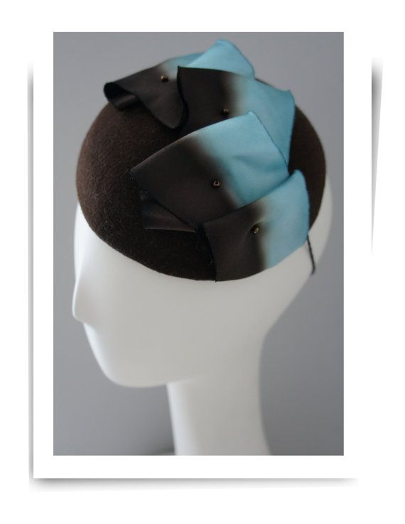 92cadf1b Felt cocktail hat with beautiful silk ribbon by Oritihats | Hats