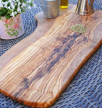 Large Rustic Wooden Serving Board Cutting Boards Olive