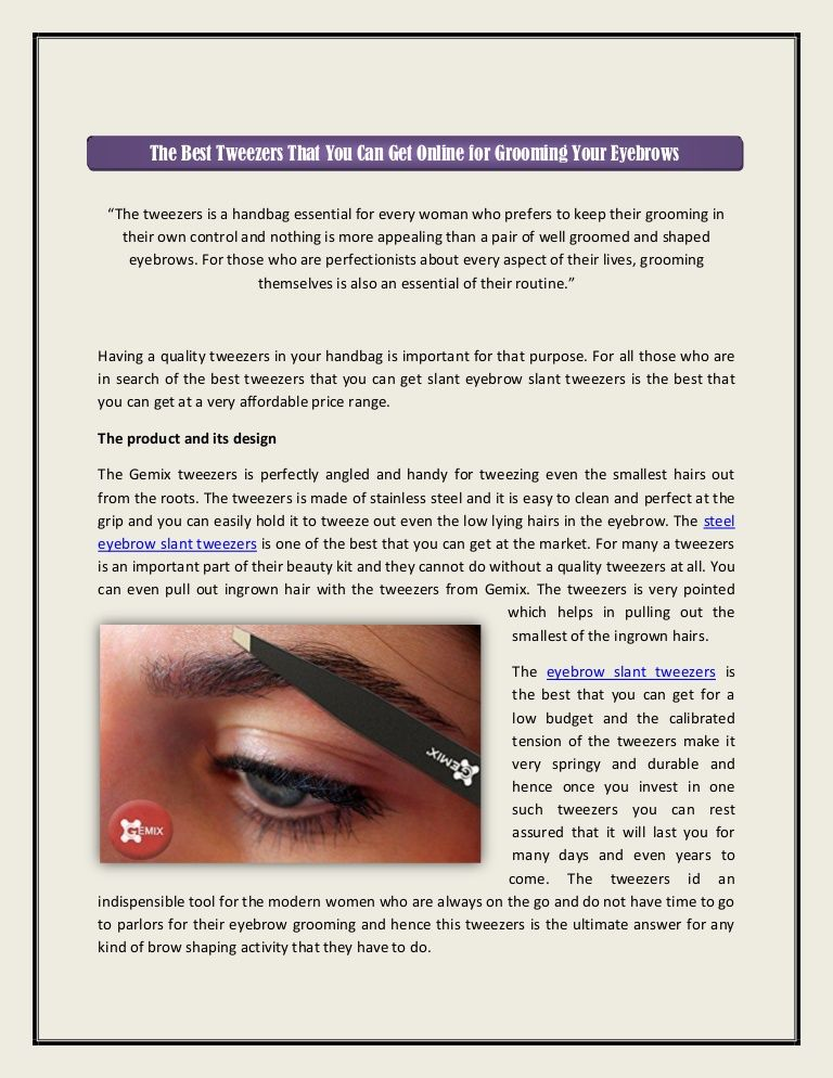 Read This Document To Know Stainless Steel Eyebrow Slant Tweezer