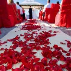 Red Themed Beach Wedding Google Search