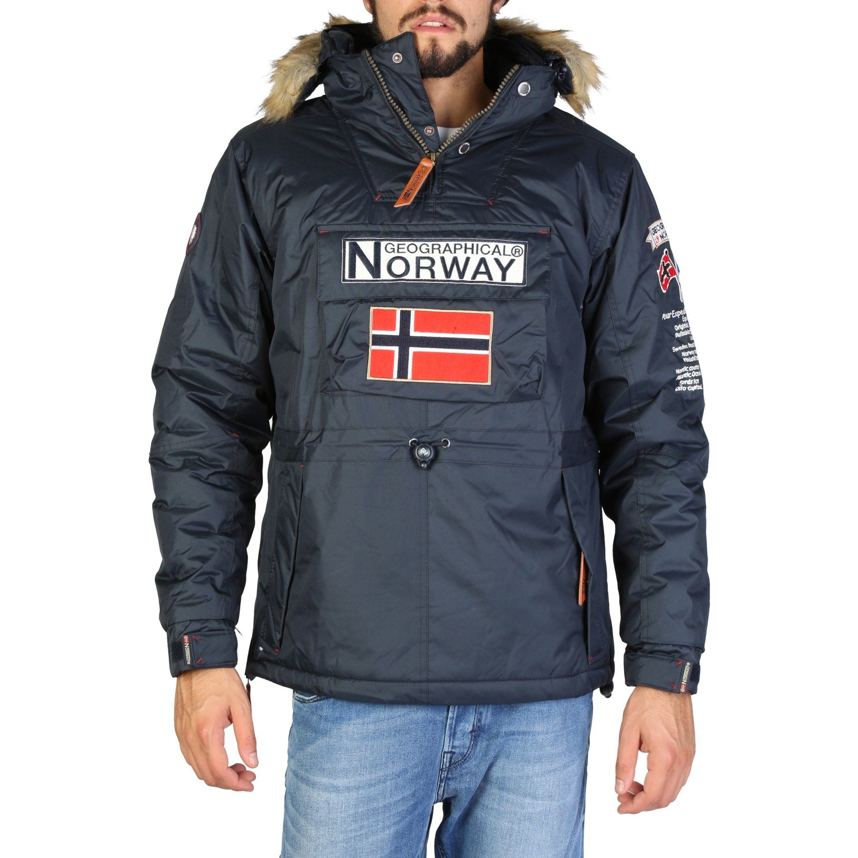 GEOGRAPHICAL NORWAY Quilted Jacket Men Winter Jacket Navy