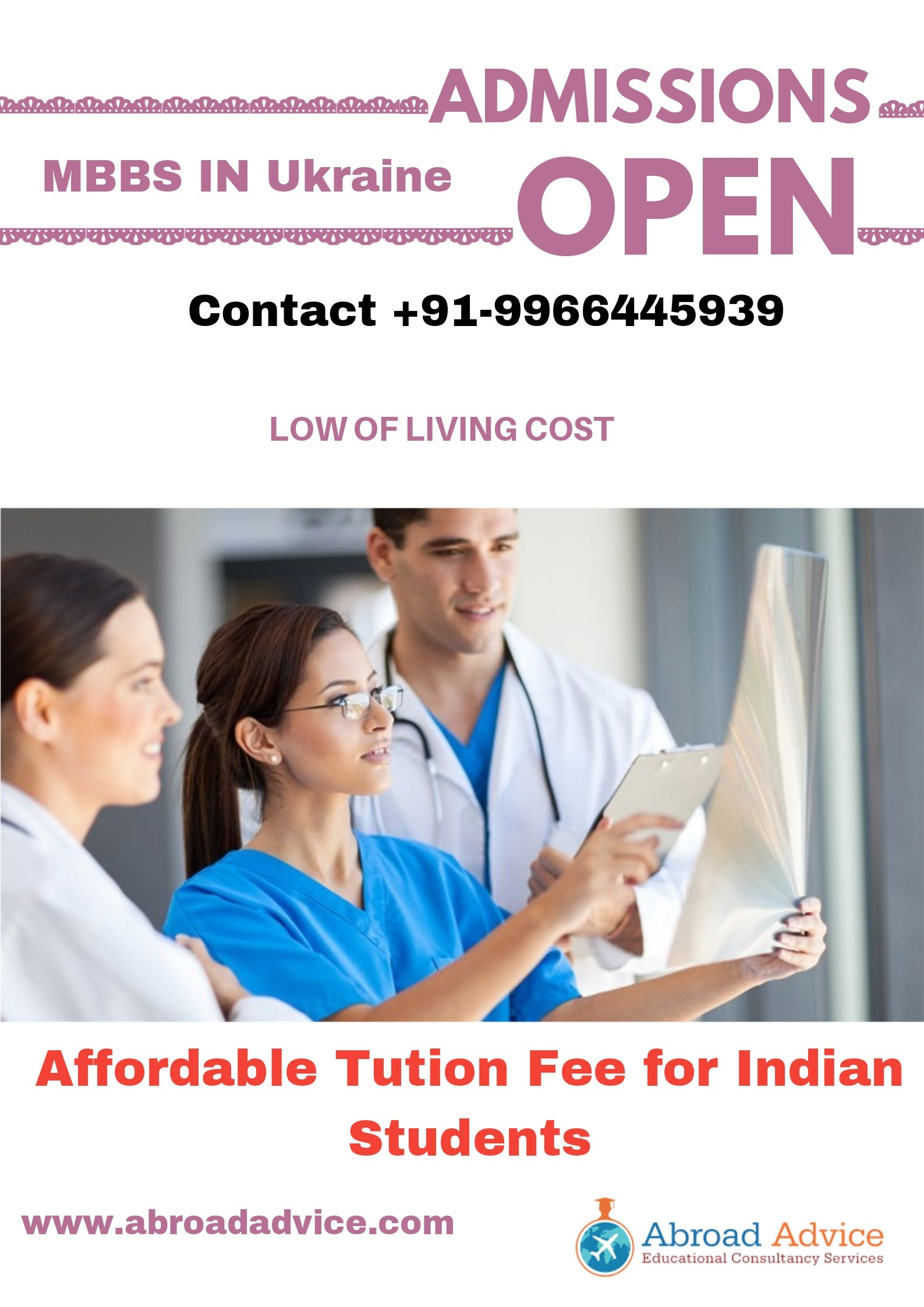 Low of living cost, affordable tuition fee for Indian