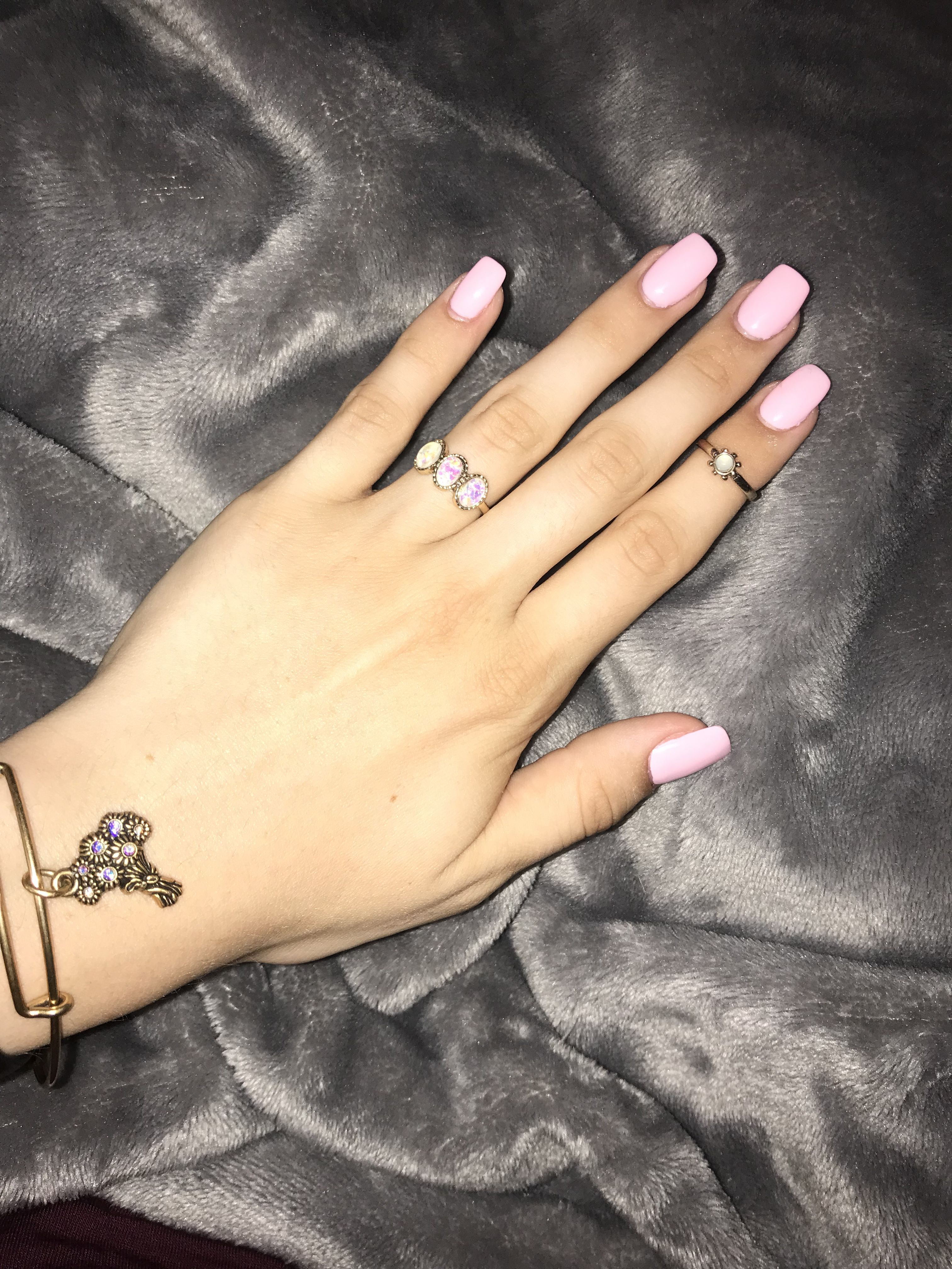 Clear pink gel | Pink gel nails, Overlay nails, Clear nails